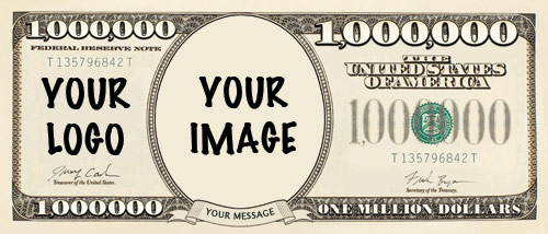 Printed Million Dollar Bill